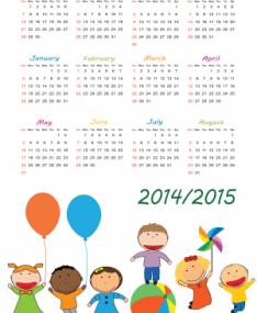 I calendari regionali per l'anno scolastico 2014/2015